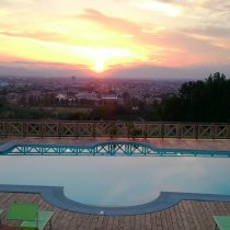 Toskana_Villa Tolomei Hotel Swimming Pool Sunset Florence (2)